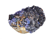 Pyrites druse. With galena, calcite, quartz Royalty Free Stock Photos