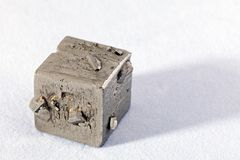 Pyrites. Mineral from the group of sulfides on the white background Stock Photography