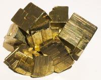 Pyritmineralsteinkristall stockbilder