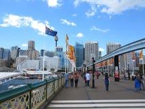 Pyrmont Brücken-süßer Hafen, Sydney Stockfoto