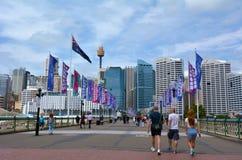 Pyrmont Bridge Darling Harbour Sydney New South Wales Australia Stock Photography