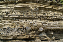 Pyroclastic deposit at Suwolbong in Jeju Island Royalty Free Stock Images