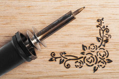 Pyrography Stock Image