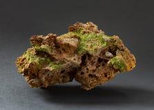 pyromorphite美好和锋利的绿色水晶从法国的 免版税库存图片