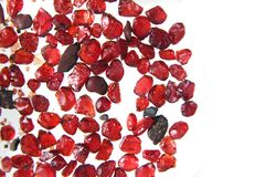 Pyrope garnet minerals Stock Photography