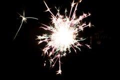 Pyrotechnic бенгальский огонь Оборудование освещения для Нового Года и рождества Стоковое фото RF