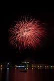 Pyrotechnic display. On Mohter's Day at Ao prachuap khi ri khan bay,Prachuap khi ri khan Province,Thailand Stock Photography
