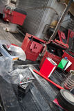 Pyrotechnic Remote and Equipment Stock Images
