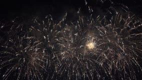 Pyrotechnic show för fyrverkeri stock video