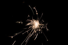 Pyrotechnic sparkler. Lighting equipment for New Year and Christmas. Stock Image