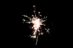 Pyrotechnic sparkler. Lighting equipment for New Year and Christmas. Stock Photography