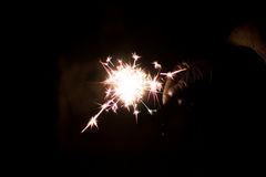 Pyrotechnic sparkler. Lighting equipment for New Year and Christmas. Stock Images