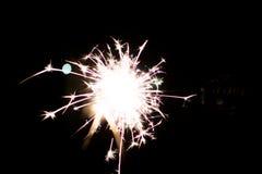 Pyrotechnic sterretje Verlichtingsmateriaal voor Nieuwjaar en Kerstmis Royalty-vrije Stock Afbeeldingen