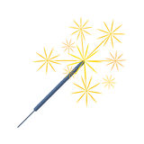 Pyrotechnics and fireworks vector. Pyrotechnic rockets. Vector illustration fireworks fountain, roman candle, beautiful rocket. City anniversary traditional Stock Photos