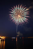 Pyrotechnics in Grand Harbour Malta Royalty Free Stock Images