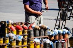 Pyrotechnics Set Up Royalty Free Stock Photo