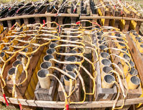 Pyrotechnics Setup Stock Photo