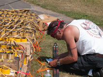 Pyrotechnics Setup Royalty Free Stock Photo