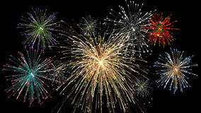 Pyrotechnics show at midnight. Pyrotechnics fireworks show at midnight Royalty Free Stock Photography
