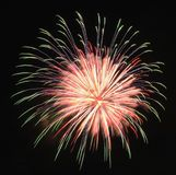 Pyrotechnie de célébration de laps de temps de feux d'artifice de la Floride de plage de Panamá City photo libre de droits