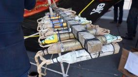 Pyrotechnie fabriquée à la main photographie stock libre de droits