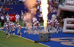 pyrotechnie pregame de cowboys Images libres de droits