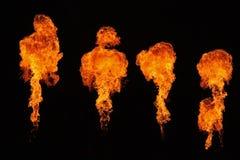Pyrotechniek op een stadium Stock Foto