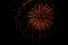 Pyrotechnische Feuerwerke Stockfoto