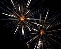 Pyrotechnische Feuerwerke in Lausanne, die Schweiz Stockfoto