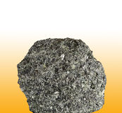 Pyroxenite. Closeup of pyroxenite stone, volcanic rock Stock Photo