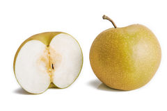 Pyrus pyrifolia  asian pear fruits Royalty Free Stock Photo