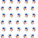 Pys & flicka - klistermärkemodell 26 vektor illustrationer
