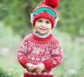 Pys, i att vänta på för tröja och för hatt jul i trät fotografering för bildbyråer