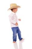 Lite cowboy Arkivbild