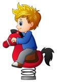 Pys på att vagga hästen vektor illustrationer