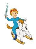 Pys på hästen Royaltyfri Foto