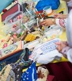 Pysanka销售天乌克兰文化在巴塞罗那 免版税库存照片