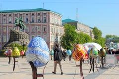 Pysanka Festival on the square Royalty Free Stock Photos