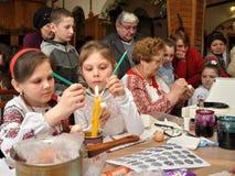 Pysanka ucraniano Pascua Fotos de archivo libres de regalías