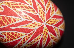 Pysanka is a Ukrainian Easter Egg decorated with traditional Ukrainian folk designs using a wax-resist method. royalty free stock image