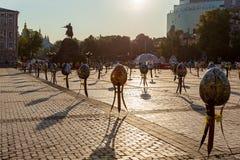Pysanky-Festival auf dem Quadrat Lizenzfreie Stockfotografie
