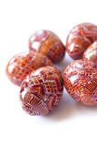 Pysanky - Ukrainian handmade painted Easter eggs Stock Photo