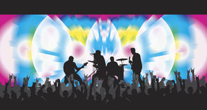 pyschodelic的音乐会 免版税库存照片
