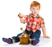 Pysen med toys Royaltyfri Fotografi