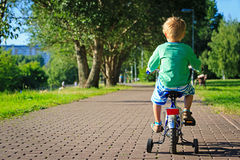 Pysridningcykel i parkera Royaltyfri Bild