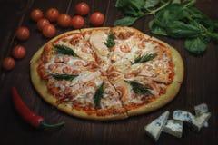 pyszna pizza Obrazy Royalty Free