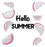 Pytahayya summer fruit pattern Royalty Free Stock Images