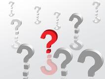 pytania Fotografia Stock