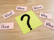 Pytania Busniess pojęcie 21 Fotografia Stock