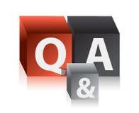 Pytania i odpowiedzi sześciany Obrazy Royalty Free